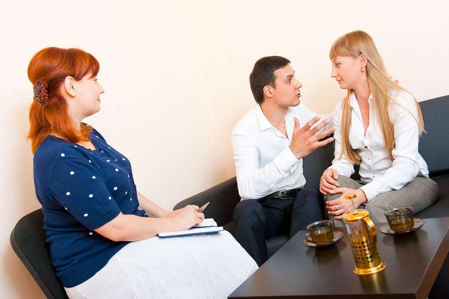 Couple attending family mediation